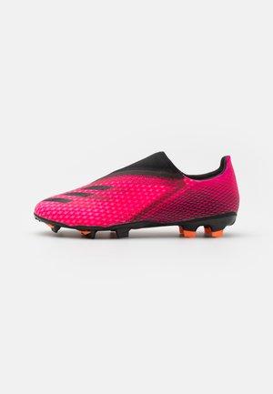 X GHOSTED.3 LL FG - Scarpe da calcetto con tacchetti - shock pink/core black/screaming orange