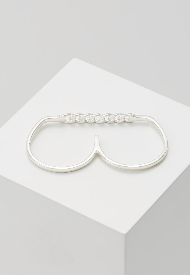 TWO FINGER CHAIN - Ring - silver-coloured
