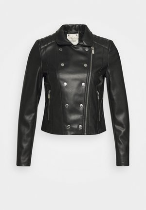 LOW - Leather jacket - black