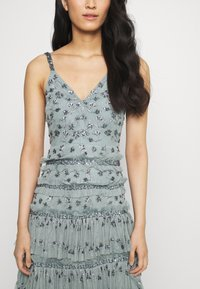 Maya Deluxe - ALL OVER EMBELLISHED MAXI WITH TIERS - Occasion wear - grey - 5
