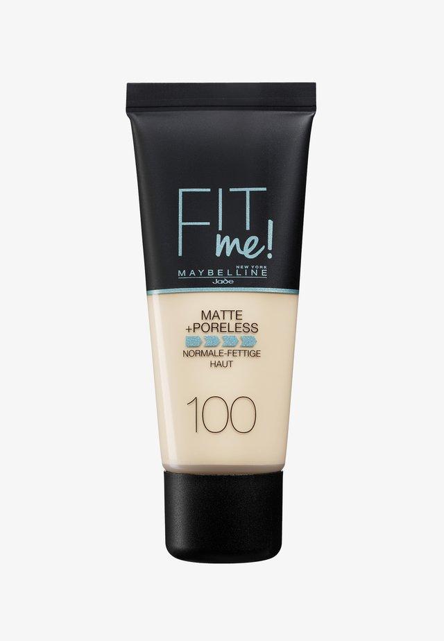 FIT ME MATTE & PORELESS MAKE-UP - Podkład - 100