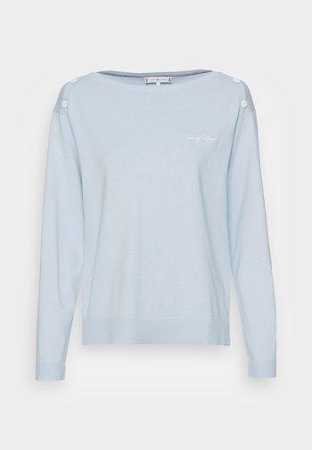 ABO BOAT NECK  - Maglione - breezy blue