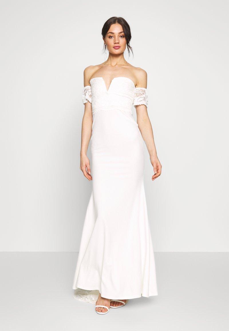 Missguided - BRIDAL LACE  PLUNGE FISHTAIL MAXI DRESS - Suknia balowa - ivory