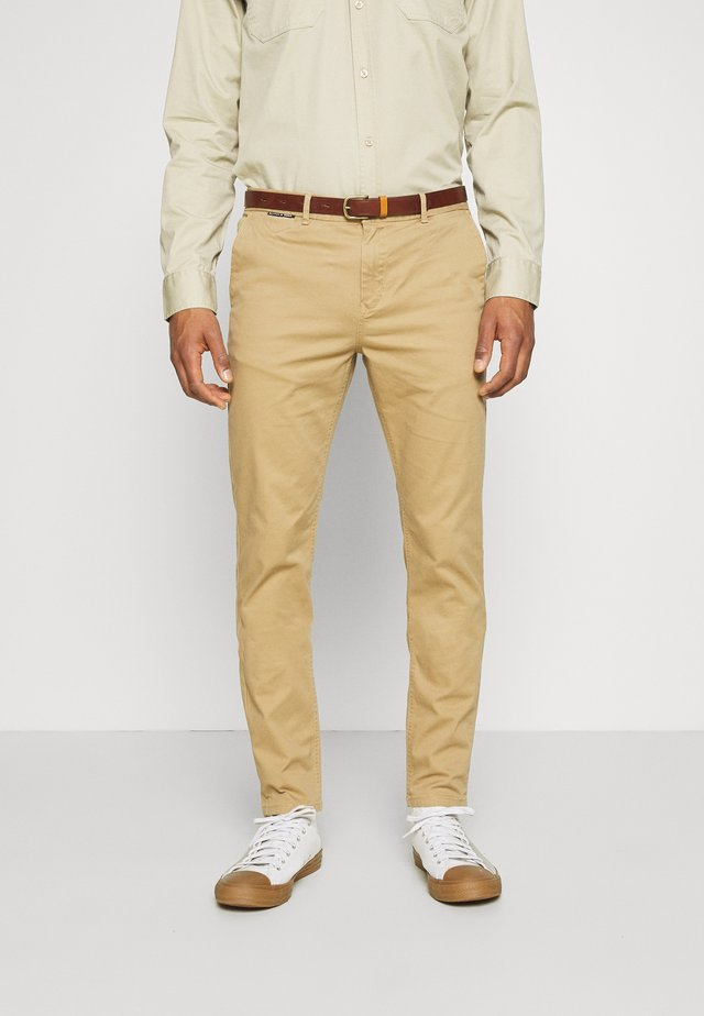 NEW BELTED  - Chino - sand