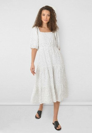 SPOT TIERED MIDI  - Day dress - white