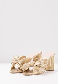 Loeffler Randall - PENNY KNOT MULE - Pantofle na podpatku - gold - 4