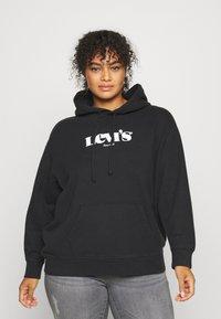 Levi's® Plus - GRAPHIC HOODIE - Sweatshirt - black - 0