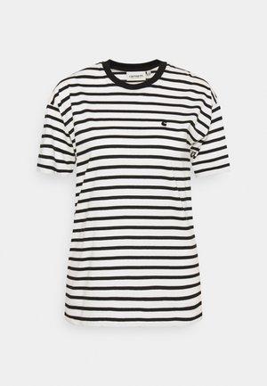 ROBIE - Print T-shirt - wax/black