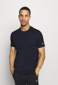 Champion - LEGACY CREW NECK 2 PACK - Basic T-shirt - dark blue/grey - 3