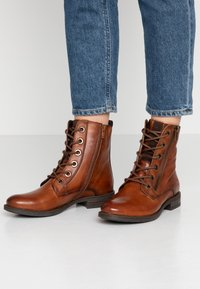 Bugatti - RONJA - Lace-up ankle boots - cognac - 0