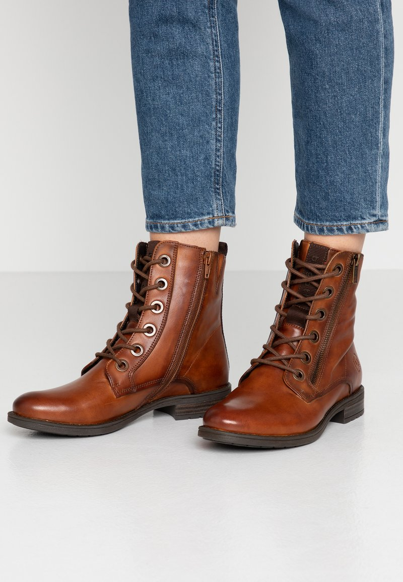 Bugatti - RONJA - Lace-up ankle boots - cognac