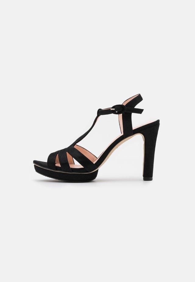 Sandalen met hoge hak - carbone black
