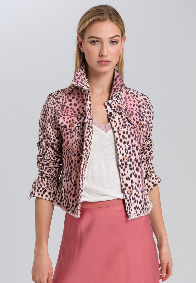 Denim jacket - light rosewood varied