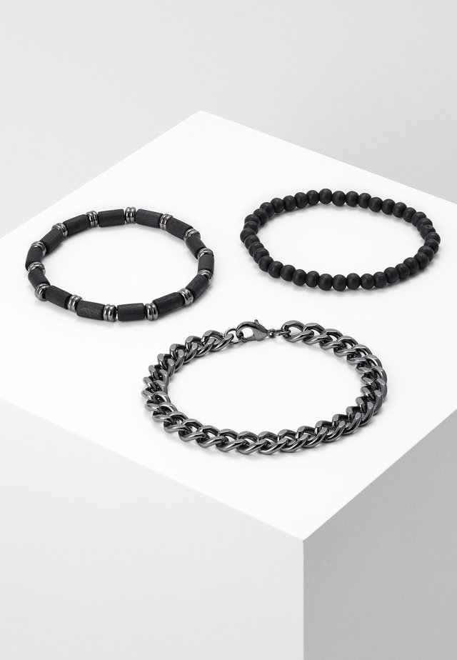 BEAD AND CHAIN 3 PACK - Bracelet - black