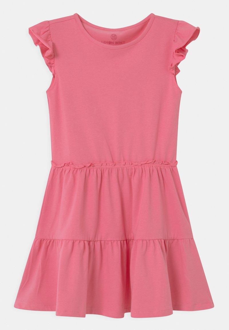Lemon Beret - SMALL GIRLS - Žerzejové šaty - azalea pink