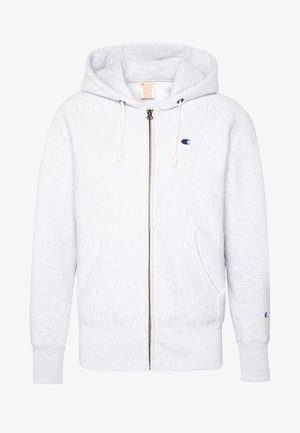 HOODED FULL ZIP  - Huvtröja med dragkedja - light grey