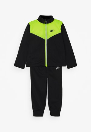 2 TONE ZIPPER TRICOT SET - Tracksuit - black