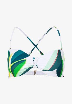 PALM BAY BANDEAU - Bikini top - white