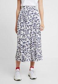 Selected Femme - SLFBREE ANKLE SKIRT - Maxi skirt - snow white - 0