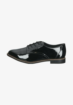 Casual lace-ups - black patent