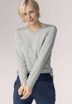 Pyjama top - hellgrau-melange