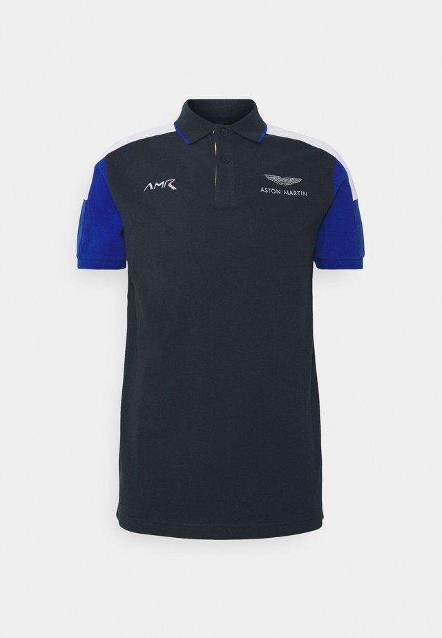 BLOCK PANEL - Polo shirt - navy/white