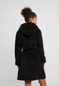 Cotton On Body - HOODED LUXE PLUSH GOWN - Morgonrock - black - 2