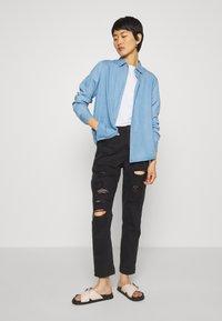 Mos Mosh - MARTINA - Button-down blouse - light blue - 1