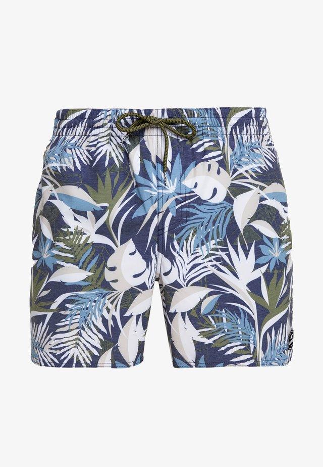 HAWAII FLORAL  - Szorty kąpielowe - blue/brown  beige