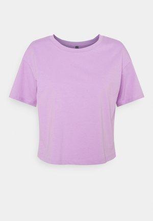 PCTAXANNA CROPPED TEE - Basic T-shirt - sheer lilac