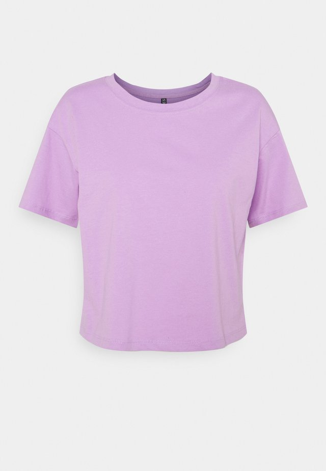 PCTAXANNA CROPPED TEE - T-shirt basic - sheer lilac