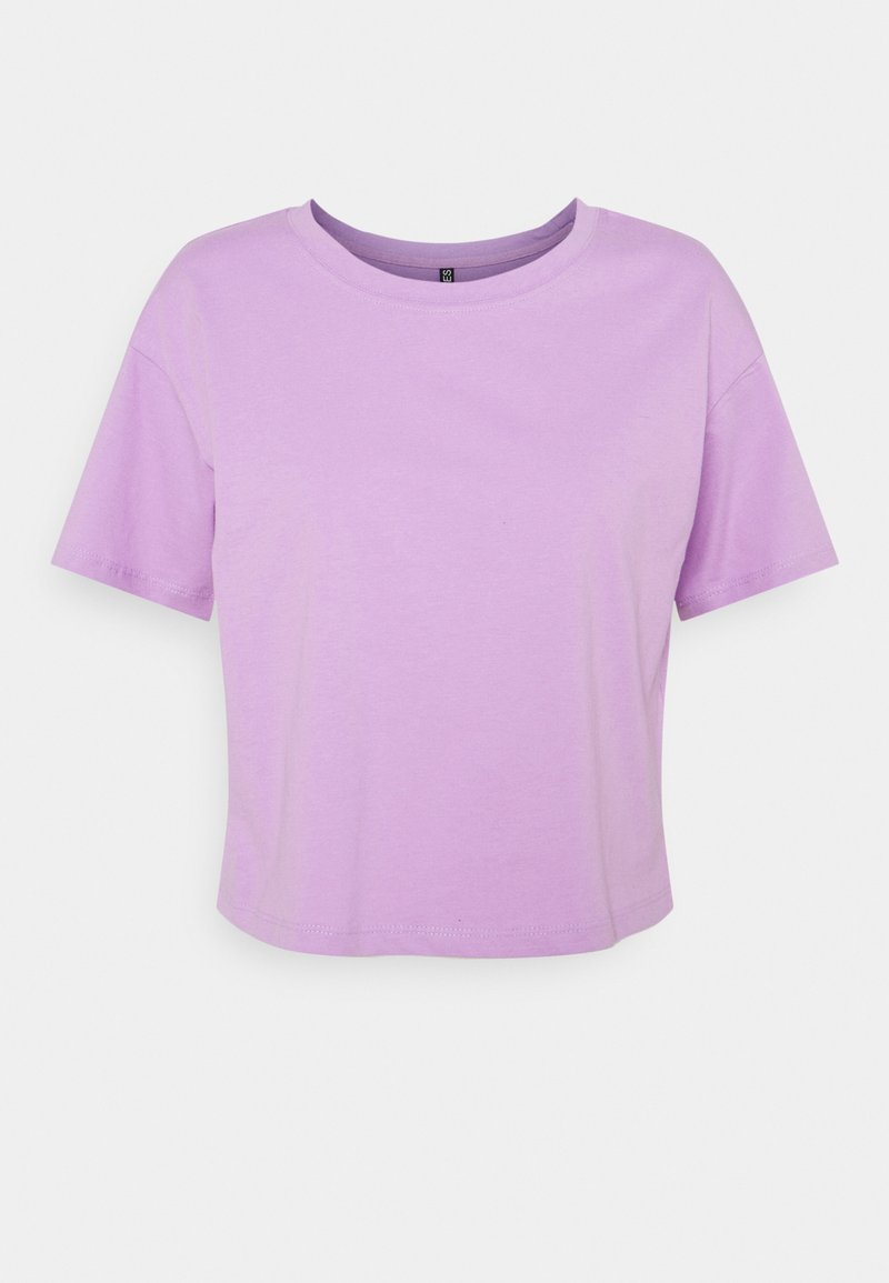 Pieces - PCTAXANNA CROPPED TEE - Jednoduché triko - sheer lilac