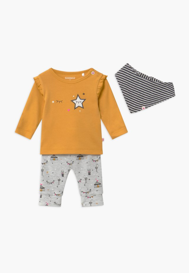 SET - Pantalon classique - yellow/mottled light grey