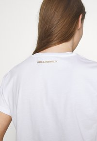 KARL LAGERFELD - LOGO - Camiseta estampada - white - 5