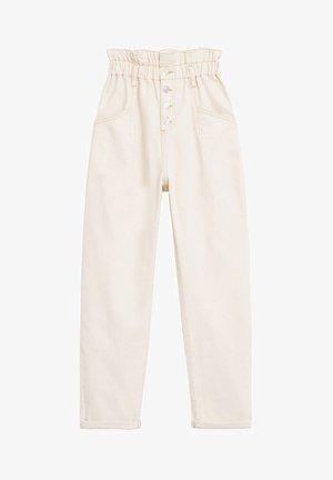 PAPERBAG - Spodnie materiałowe - cremeweiß
