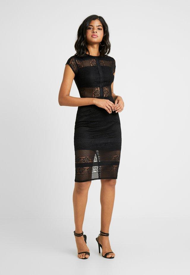 INSERT BODYCON DRESS - Cocktailkjoler / festkjoler - black