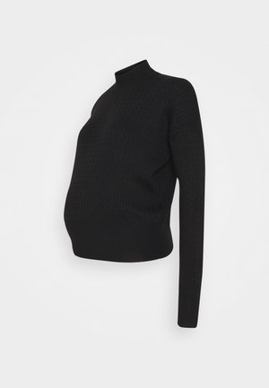 cable knitted jumper co-ord - Strikkegenser - black