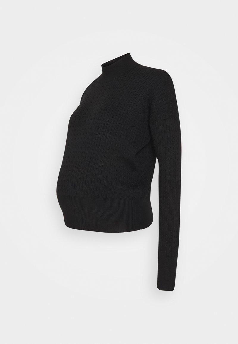 Anna Field MAMA - cable knitted jumper co-ord - Strikkegenser - black