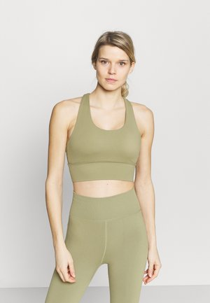 ULTIMATE LONGLINE CROP - Light support sports bra - oregano