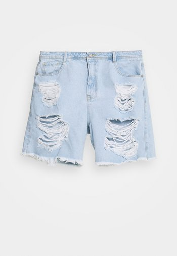 PLUS EXTREME - Denim shorts - blue