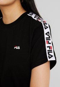 Fila - ADALMIINA TEE - Print T-shirt - black - 5