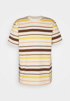 STRIPE UNISEX  - Print T-shirt - natural