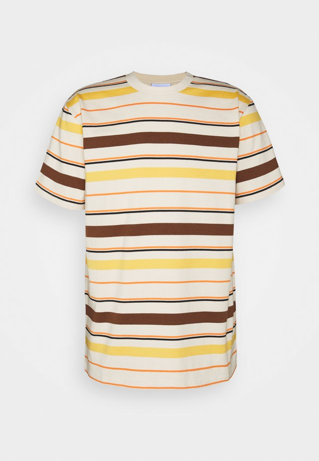 STRIPE UNISEX  - Print T-shirt - natural