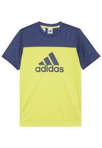 adidas Performance - TEE - T-Shirt print - yellow - 1