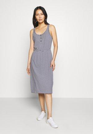 TIERED DRESS - Jersey dress - dark blue
