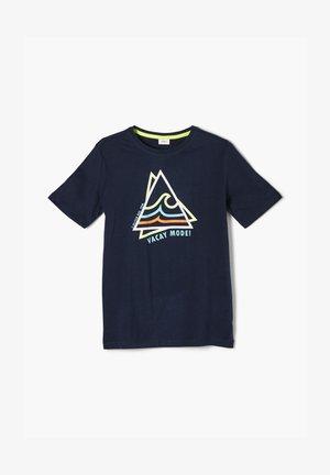 MIT FRONTPRINT - Print T-shirt - blue