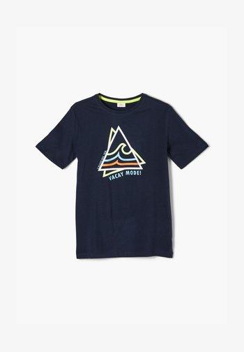MIT FRONTPRINT - T-shirt con stampa - blue