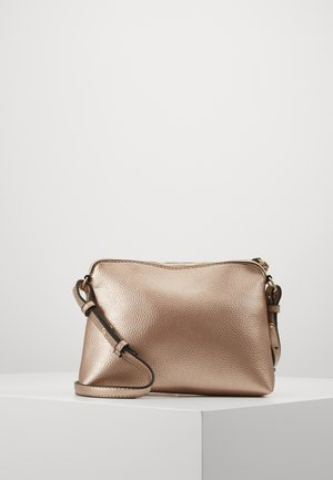 ZIP TOP CROSS BODY - Bandolera - rose gold