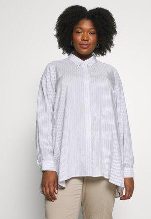 FORTE - Button-down blouse - bianco/blue