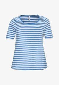 Sheego - Print T-shirt - jeansblau-weiß - 4